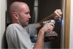 Sealing air leaks will help to decrease heating and cooling costs and make your home more comfortable. | Photo courtesy of Dennis Schroeder, National Renewable Energy Laboratory