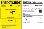 The EnergyGuide and Lighting Facts labels help you understand both the purchase price and the operating cost when shopping for new appliances or lighting.