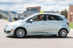 Fuel cell car at a ride and drive event.