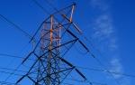 Image of a power line pylon
