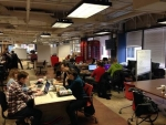 Designers hard at work turning energy data into useful apps at a hackathon in Washington earlier this year.