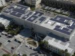 Eco Technologies, Inc., hired eleven workers to install these solar panels at the Hillsborough County judicial center. | Photo courtesy of Hillsborough County