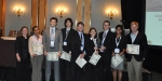 The University of Maryland team accepted the award for the best combined heat, hydrogen, and power system design at the World Hydrogen Energy Conference (WHEC) in Toronto.   Photo courtesy of Jennie Moton.