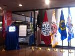 A display for Native American Heritage Month in the Forrestal headquarters lobby.