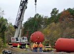 Workers recently removed five large mercury-contaminated tanks from Y-12.