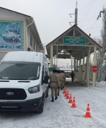 Kazakh participants take part in an exercise using a Mobile Detection System.