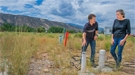 Ken Williams (left) and Jill Banfield at the Watershed Function Scientific Focus Area site near Rifle, Colorado, where research by her team has doubled the number of known bacterial groups.