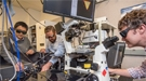From left: Kaiyuan Yao, Nick Borys, and P. James Schuck, seen here at Berkeley Lab's Molecular Foundry, measured a property in a 2-D material that could help realize new applications