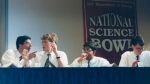 Members of the 1999 National Science Bowl® championship team were (L to R): Kaushik Roy, Andrew Mills, Manish Gala, Jason Rubenstein, and (not pictured) Jacob Paul, from Montgomery Blair High School, Silver Spring, MD.