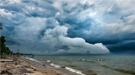 This photo shows the types of storm clouds that Jiwen Fan and colleagues studied as part of their study published in Science.