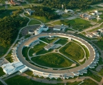 An aerial view of the Advanced Photon Source at the U.S. Department of Energy's Argonne National Laboratory