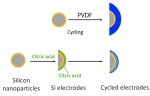 Designer Binders Protect Silicon Battery Electrodes