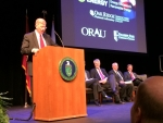 Deputy Secretary of Energy Daniel Poneman addresses attendees at a ceremony at Pellissippi State Community College on August 15, 2014.   Energy Department file photo.