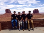 The 2014 Sandia/Tribal Energy Program summer interns:  Aaron Cate, Sandra Begay-Campbell, Thomas Jones, and Len Necefer. Photo from Sandra Begay-Campbell, Sandia National Laboratories