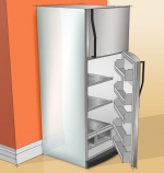 ENERGY STAR<sup>®</sup> Refrigerators Are Cool! ENERGY STAR-qualified refrigerators are 20% more energy efficient than non-qualified models. Models with top-mounted freezers use 10-25% less energy than side-by-side or bottom-mount units.