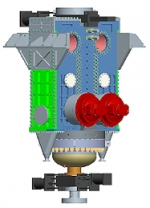A rendering of the Pratt & Whitney Rocketdyne high pressure, dry-solids feed pump.