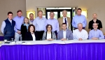 Senior officials from DOE's Oak Ridge Office of Environmental Management and North Wind Solutions, LLC meet to sign a partnering agreement that defines the working arrangement and expectations between the two organizations.