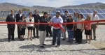 On July 25, Office of Indian Energy Director Chris Deschene joined Soboba Tribal Council Vice-Chair Isaiah Vivanco, other members of the tribal council and staff, and partners from Southern California Edison and Optimum Group for a ribbon-cutting ceremony to celebrate the installation of the Soboba Band of Luiseño Indians' new solar system. Photo from the Soboba Band of Luiseño Indians.