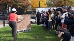 """Washington, D.C. Mayor Muriel Bowser kicks off the redevelopment of the Phyllis Wheatley YWCA at a """"wall-breaking"""" ceremony. 