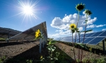 Solar energy benefits homeowners, the job market, and the planet.   Photo courtesy of Dennis Schroeder, National Renewable Energy Lab