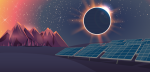 The moon blocks the sun and creates an eclipse