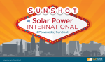 SunShot at Solar Power International, #PoweredBySunShot.