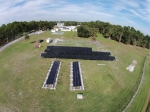 This solar photovoltaic (PV) array is being tested in hot, humid weather at the Cocoa, Florida Regional Test Center.