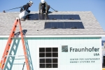 Fraunhofer CSE demonstrates Plug and Play PV System installation and commissioning in just 75 minutes at the Massachusetts Clean Energy Center's Wind Technology Testing Center. Photo Credit: Fraunhofer CSE