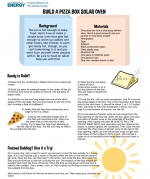 "Fun learning activities, like the <a href=""http://www1.eere.energy.gov/education/pdfs/solar_pizza_oven_box.pdf"">pizza box solar oven exercise</a> above, are just a few of the resources that can be found using the new <a href=""http://energy.gov/education-toolbox/search"">Education Toolbox</a> search feature."