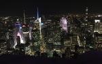 photo of a city at night.