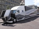 """Freightliner's SuperTruck, which improved Class 8 truck efficiency by 115%. The National Academy of Sciences reported the four SuperTruck projects are """"impressive"""" and will """"significantly reduce the fuel consumption of Class 8 tractor-trailer vehicles."""""""