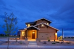 Palo Duro Homes built this 2,215 square-foot home in Sante Fe, New Mexico to the performance criteria of the U.S. Department of Energy Zero Energy Ready Home (ZERH) program. The project won a 2015 DOE Housing Innovation Award.  Photo courtesy Palo Duro Homes