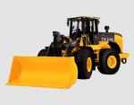 John Deere hybrid electric tractor for heavy-duty construction