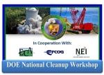 DOE National Cleanup Workshop