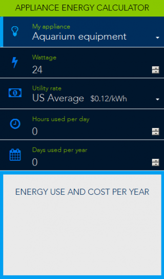 Appliance Energy Calculator Department Of Energy