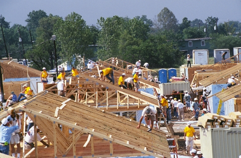 Photo of people building ENERGY STAR homes.
