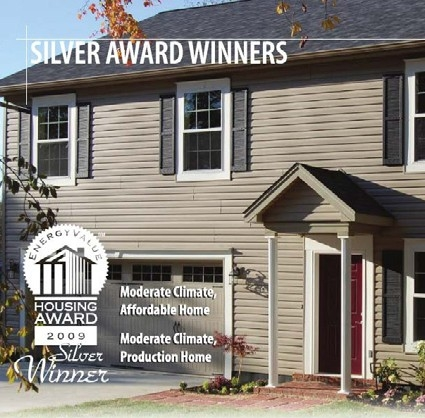 Photo of a Housing Award logo with a home.