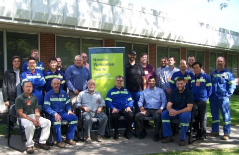 Participants at the August 2014 INPLT at Novelis' Oswego Works plant.