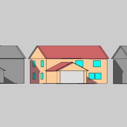 House graphic from BEopt software.