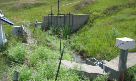 RFLMA POE sampling location GS10 and the downstream diversion structure prior to beginning the replacement project.