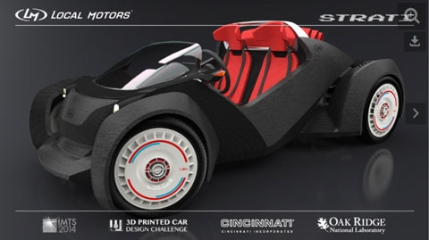 Strati, the 3D Printed Car Design Challenge-winning concept by Michele Anoé.