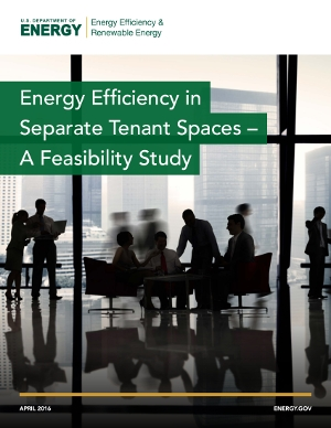 "The cover of the ""Energy Efficiency in Separate Tenant Spaces – A Feasibility Study"" report."
