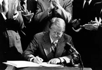 President Carter signs the Department of Energy Organization Act