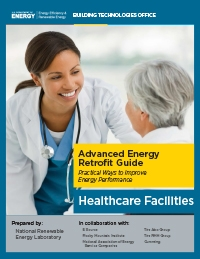 Photo of the cover of the Advanced Energy Retrofit Guide for Healthcare Facilities.