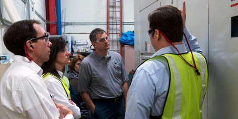 Cummins Energy Champions learn about compressed air during an in-plant training session sponsored by DOE.