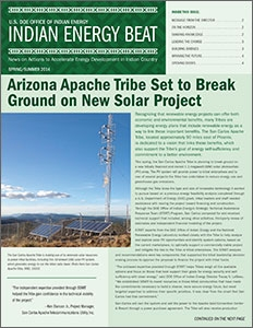 Front cover of the DOE Office of Energy Indian Energy Beat Newsletter.