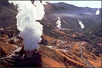 Photo of dry steam power plants.