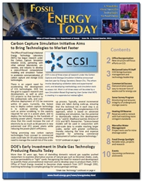 Fossil Energy Today - a free, quarterly newsletter published by the Office of Fossil Energy