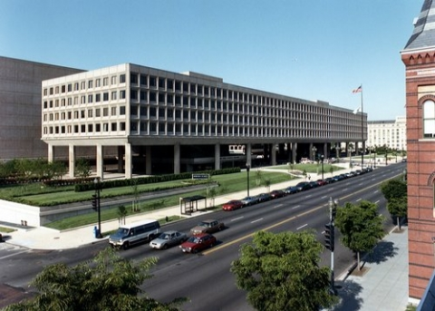 Image of the Department of Energy Forrestal building in DC.