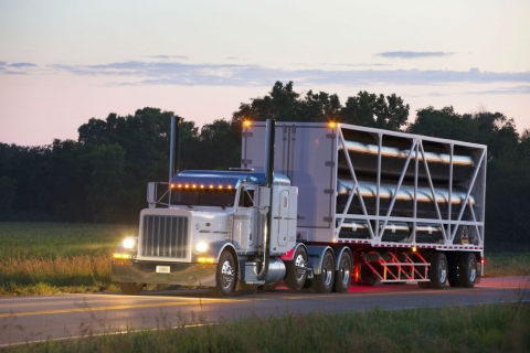Photo of  carbon fiber trailers courtesy of Hexagon Lincoln